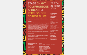 Stage CHANTS POLYPHONIQUES AFRICAINS ET PERCUSSIONS